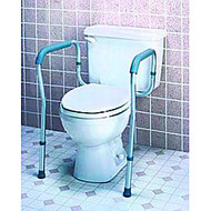 Carex; Toilet Safety Frame, Brown Box Packaging