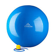 Black Mountain Products 2000 lb Static Strength Stability Ball With Pump, 65cm, Blue