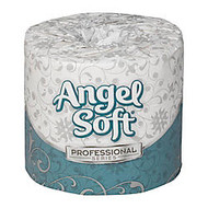 Angel Soft Professional Series™ 2-Ply Premium Embossed Bathroom Tissue, 450 Sheets Per Roll, Case Of 80 Rolls
