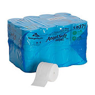 Angel Soft ps; Compact; Coreless 2-Ply Premium Embossed Bathroom Tissue, 750 Sheets Per Roll, Case Of 36 Rolls