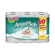 Angel Soft; 2-Ply Bathroom Tissue, Pack Of 12 Rolls