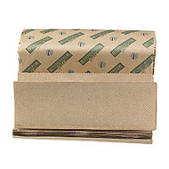 Boardwalk Green Multi-Fold Folded Towels, 9 1/8 inch; x 9 1/2 inch;, 100% Recycled, Natural, 200 Per Pack, Case Of 20 Packs
