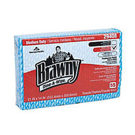 Brawny; Dine-A-Wipe; Foodservice Quarterfold Busing Towel (HEF), 55 Sheets Per Roll, Pack Of 6 Rolls