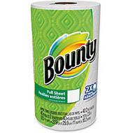 Bounty Full Sheet Paper Towels - 2 Ply - 44 Sheets/Roll - White - Absorbent - For Kitchen - 44 / Roll