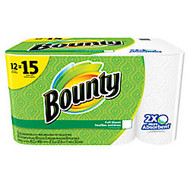 Bounty; 2-Ply Paper Towels, 11 inch; x 10 1/5 inch;, White, 50 Sheets Per Roll, Pack Of 12 Rolls