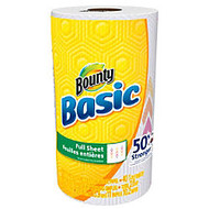 Bounty; Basic Paper Towels, 11 inch; x 10 1/5 inch;, White, 40 Sheets Per Roll