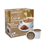 Cafe Escapes™ Milk Chocolate Hot Cocoa K-Cup; Pods, Box Of 16