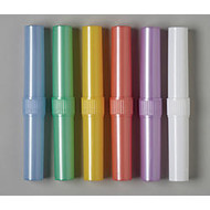 Medline 2-Piece Toothbrush Holders, Assorted Colors, Case Of 72