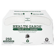 Health Gards Toilet Seat Covers, White, 100% Recycled, Pack Of 1,000