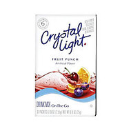 Crystal Light; On The Go Mix Sticks, Fruit Punch, Box Of 30 Packets