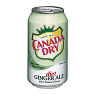 Canada Dry Diet Ginger Ale, 12 Oz., Case Of 24