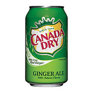 Canada Dry Ginger Ale, 12 Oz. Cans, Case Of 24