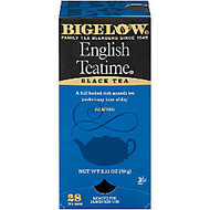 Bigelow English Tea Time Bags, Box Of 28