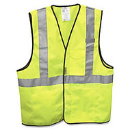3M Class 2 Polyester Safety Vest, One Size, Yellow/Silver