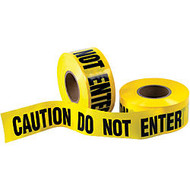B O X Packaging Barricade Tape, Caution Do Not Enter, 3 inch; Core, 3 inch; x 333 Yd., Black/Yellow, Case Of 4