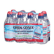 Crystal Geyser Spring Water, With Sport Cap, 8 Oz, Pack Of 8