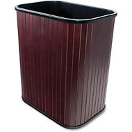 Carver Rectangular Waste Basket - 4.25 gal Capacity - Rectangular - 16.4 inch; Height x 14.3 inch; Width x 10 inch; Depth - Wood - Mahogany