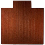 Anji Mountain Bamboo Deluxe Roll-Up Chair Mat, 55 inch; x 57 inch;, 8 mm inch;-Thick, Dark Cherry