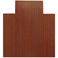 Anji Mountain Bamboo Roll-Up Chair Mat, 44 inch; x 52 inch;, 1/4 inch;-Thick, 9 1/4 inch; Tongue, Dark Cherry