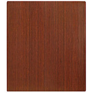 Anji Mountain Bamboo Roll-Up Chair Mat, 48 inch; x 42 inch;, 1/4 inch;-Thick, Dark Cherry