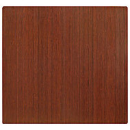 Anji Mountain Bamboo Roll-Up Chair Mat, 48 inch; x 52 inch;, 1/4 inch;-Thick, Dark Cherry