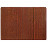 Anji Mountain Bamboo Roll-Up Chair Mat, 48 inch; x 72 inch;, 1/4 inch;-Thick, Dark Cherry
