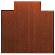 Anji Mountain Bamboo Tri-Fold Chair Mat, 47 inch; x 51 inch;, 1/2 inch; Thick, Dark Cherry