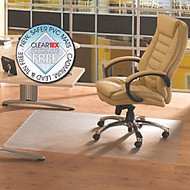Cleartex Phthalate-Free Advantagemat Chair Mat for Hard Floors - Hard Floor, Home, Office - 53 inch; Length x 45 inch; Width x 0.87 inch; Thickness - Polyethylene Terephthalate (PET), Polyvinyl Chloride (PVC) - Clear