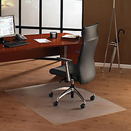 Cleartex Ultimat Chair Mat for Hard Floors - Home, Office, Hardwood Floor, Floor, Hard Floor - 53 inch; Length x 48 inch; Width x 75 mil Thickness - Rectangle - Polycarbonate - Clear