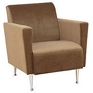 Adesso; Memphis Velvet Retro Club Chair, 27 1/2 inch;H x 27 1/4 inch;W x 31 3/4 inch;D, Olive Brown