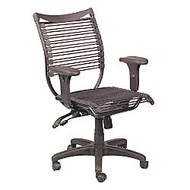 Balt; Banded Managerial Mid-Back Chair, 38 1/2 inch;H x 19 inch;W x 19 inch;D, Black