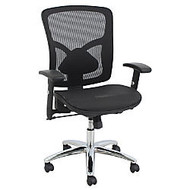 BarcaLounger Mesh Mid-Back Task Chair, Black/Chrome