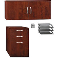 BBF Office-In-An-Hour™ Storage/Accessory Kit, Hansen Cherry, Standard Delivery Service