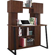 Altra Wood Computer Desk With Hutch, 58 5/8 inch;H x 47 1/4 inch;W x 23 5/8 inch;D, Cherry