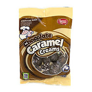 Goetze's Caramel Cream Cow Tales, Chocolate, 4 Oz Pouches, Box Of 12