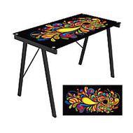 Lumisource Computer Desk, 28 3/4 inch;H x 44 1/2 inch;W x 22 3/4 inch;D, Psychedelic