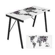 Lumisource Exponent Desk, 28 3/4 inch;H x 44 1/2 inch;W x22 3/4 inch;D, World Map Graphic Top
