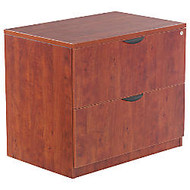 Alera; Valencia Series 2-Drawer Lateral File, 29 1/2 inch;H x 35 inch;W x 22 inch;D, Medium Cherry