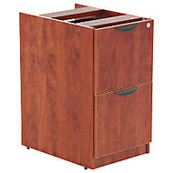 Alera; Valencia Series 2-File Drawer Full Pedestal, 28 inch;H x 16 inch;W x 22 inch;D, Medium Cherry