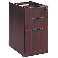 Alera; Valencia Series Pedestal With 2 Box/1 File Drawers, 28 inch;H x 16 inch;W x 22 inch;D, Mahogany
