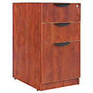 Alera; Valencia Series Pedestal With 2 Box/1 File Drawers, 28 inch;H x 16 inch;W x 22 inch;D, Medium Cherry