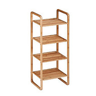 Honey-Can-Do 4-Tier Vertical Bamboo Shelf, 36 7/16 inch;H x 11 13/16 inch;W x 14 5/8 inch;D, Natural