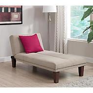 DHP Dillan Convertible Microfiber Chaise, 29 inch;H x 69 inch;W x 30 inch;D, Tan