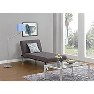 DHP Emily Chaise Lounger, Linen, 32 1/2 inch;H x 61 1/2 inch;W x 30 inch;D, Gray