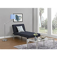 DHP Emily Chaise Lounger, Linen, 32 1/2 inch;H x 61 1/2 inch;W x 30 inch;D, Navy