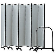 Screenflex Portable Room Partition Divider, 72 inch;H x 245 inch;W, Gray
