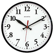 Acu-Rite; 12 inch; Wall Clock, Black