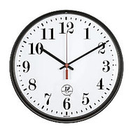 Chicago Lighthouse 12 inch; Slimline Atomic Wall Clock, Black