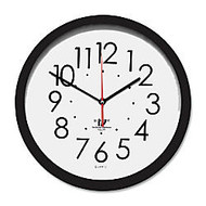 Chicago Lighthouse Contemporary Self-Set Wall Clock, 14 1/2 inch;, Black/White