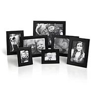 7-Piece Photo Frame Set, Assorted Sizes, Black